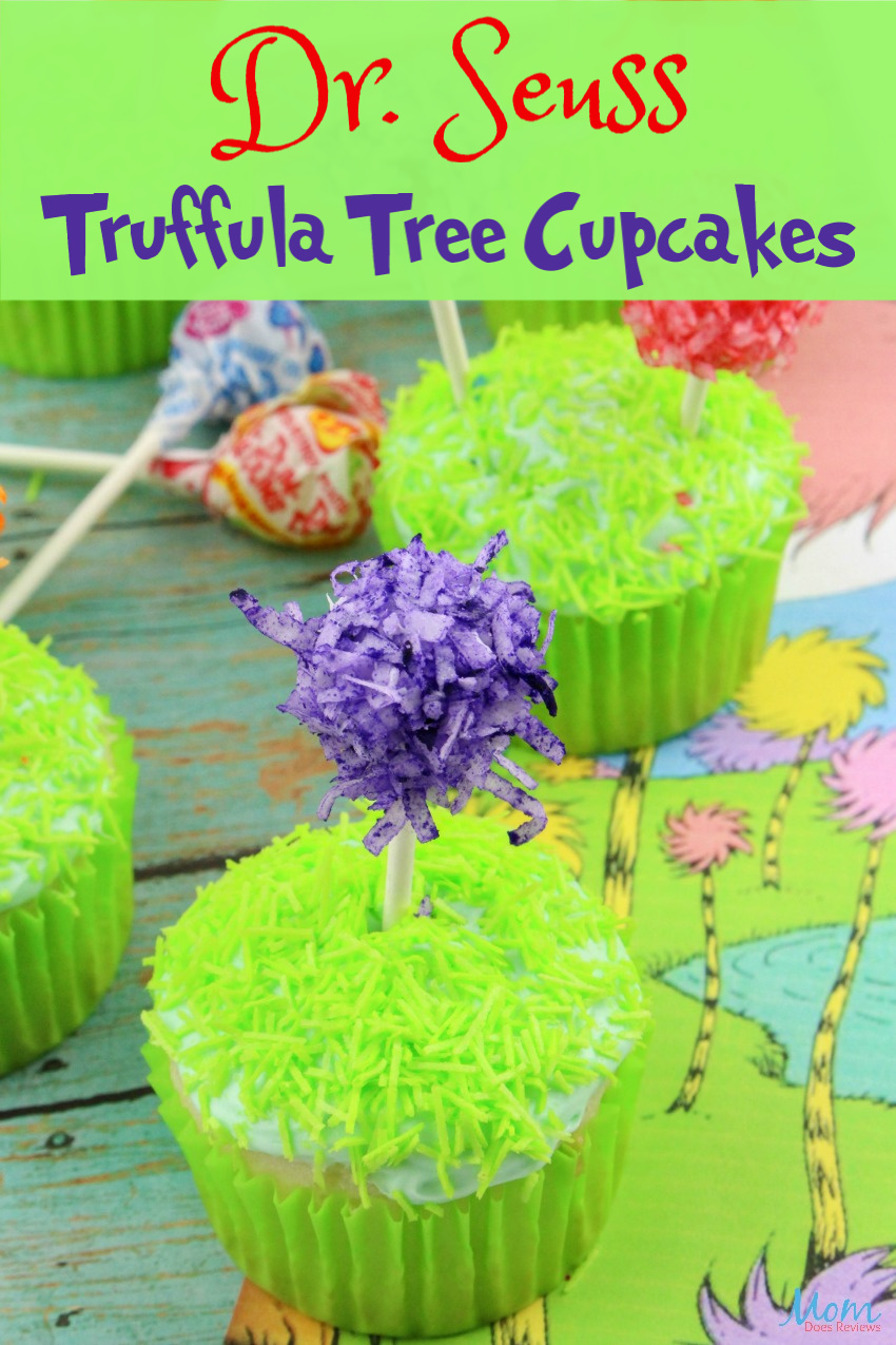 Dr. Seuss Truffula Tree Cupcakes Recipe #drseuss #cupcakes #funfood
