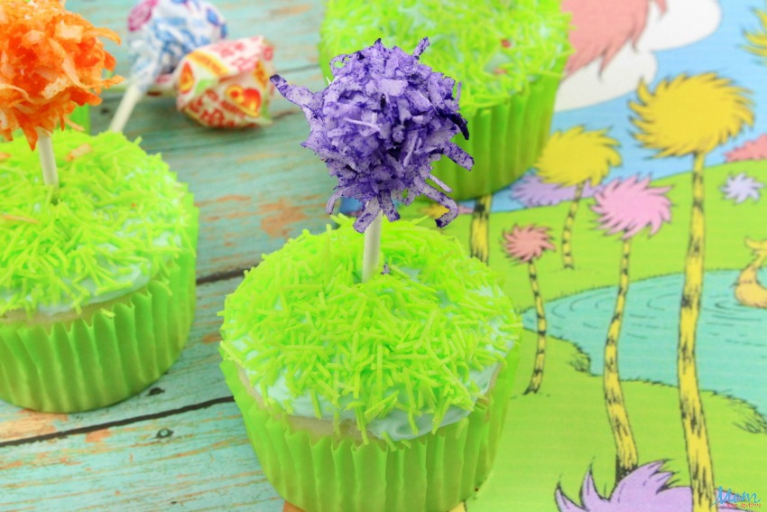 Dr. Seuss Truffula Tree Cupcakes Recipe