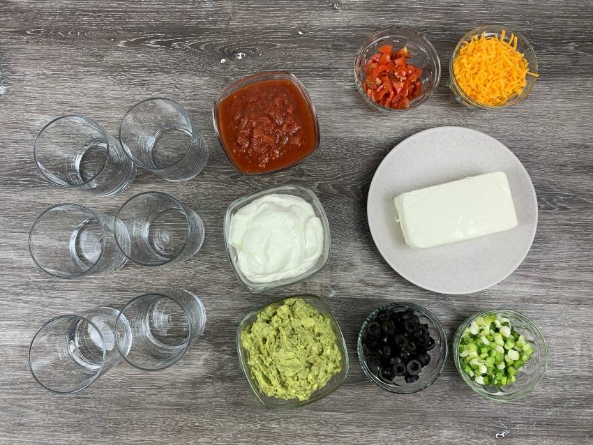 Game Day Layered Dip Recipe ingredients
