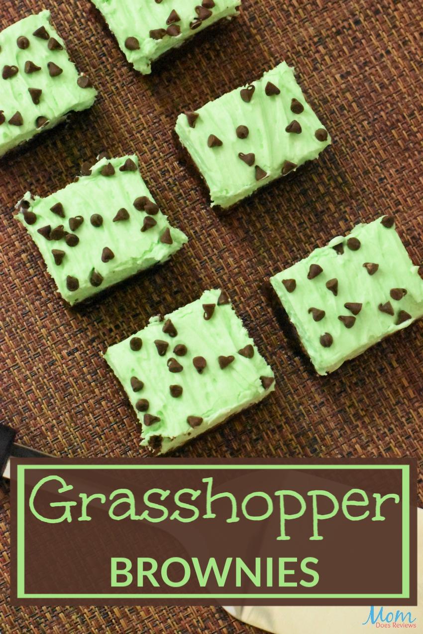 Grasshopper Brownies #Recipe #foodie #desserts