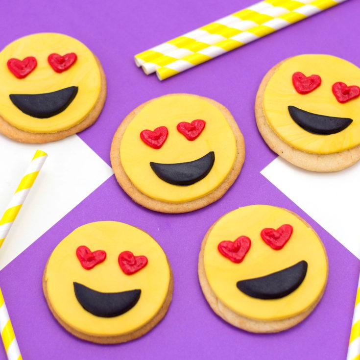 Heart Eye Emoji Cookies