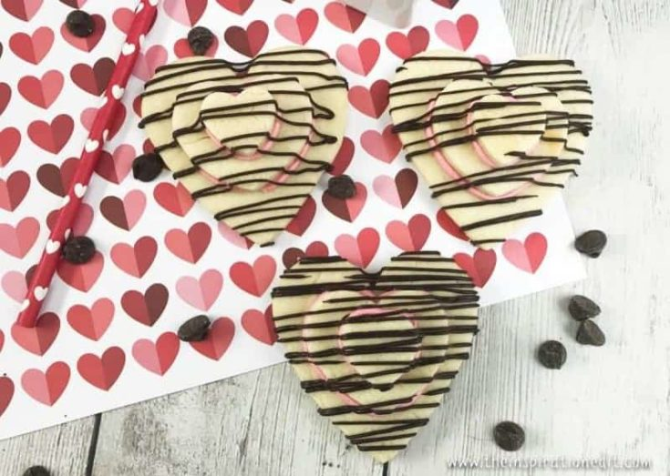 Stacked Valentines Heart Cookies