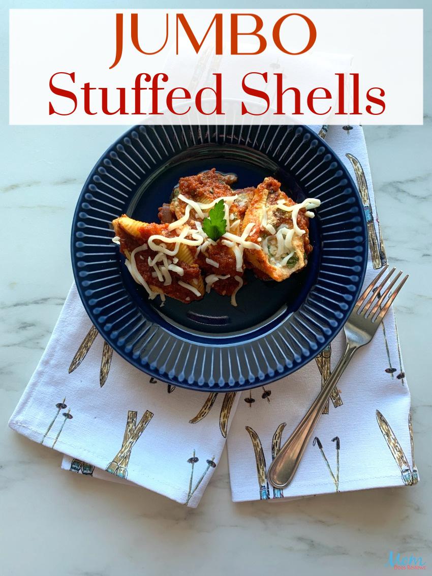 Jumbo Stuffed Shells #Recipe #crockpot #Foodie
