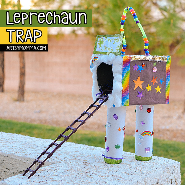 Recycled Cardboard Leprechaun Trap Craft for 1st Grade