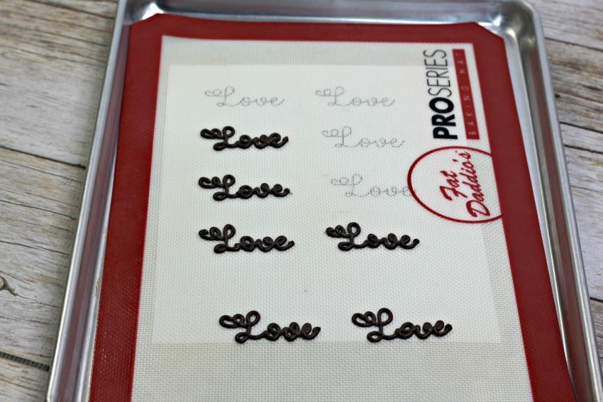 Valentine Love Cupcakes process
