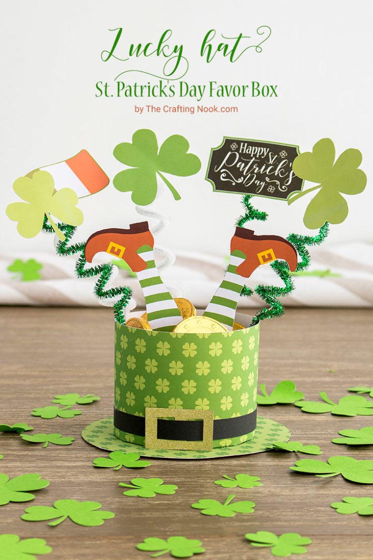 Lucky Hat St. Patrick's Day Favor Box with Free Printables