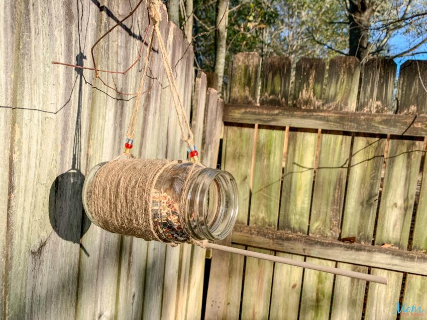 Mason Jar Bird Feeder Craft