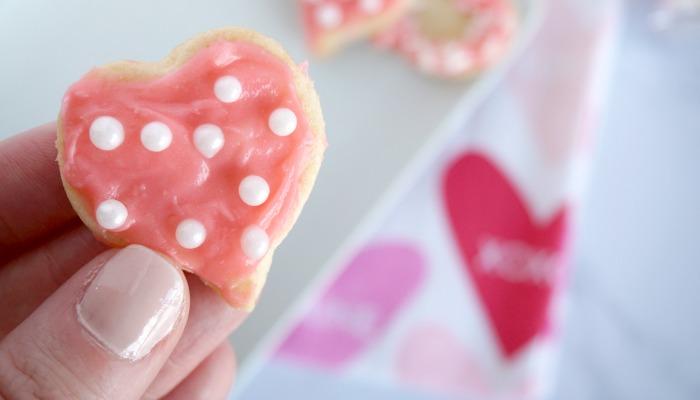 Easy Valentine's Day Mini Sugar Cookies!