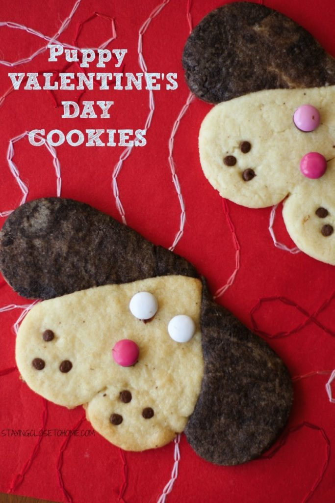Puppy Shape Valentines Day Cookies