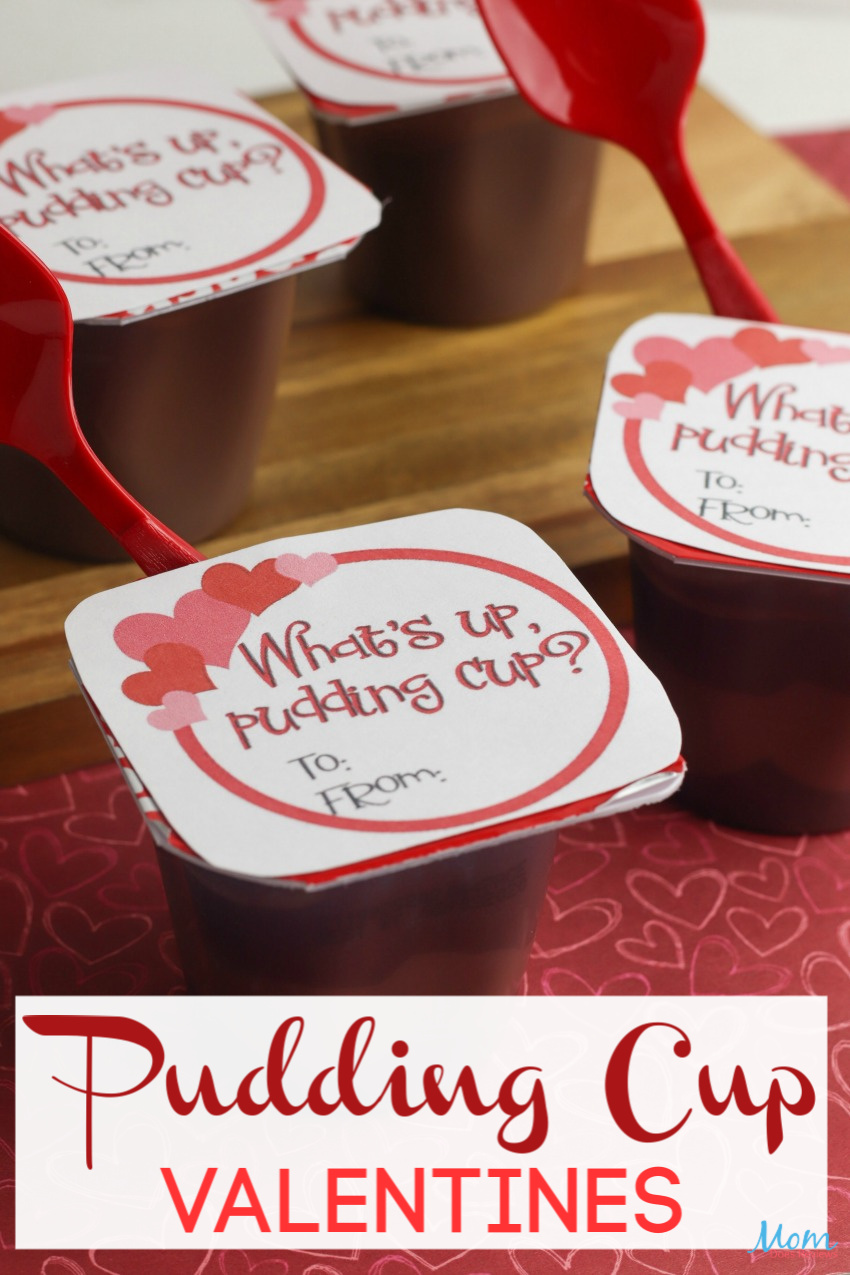 Cute & Easy Pudding Cup Valentines with Free #Printable #valentinesday #funstuff