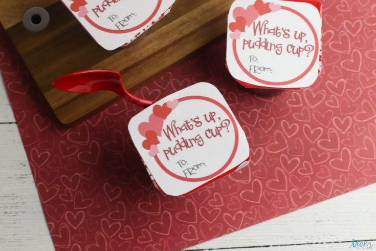 Pudding Cup Valentines with Free Printable