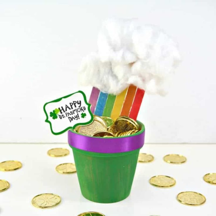 Rainbow Pot of Gold Planter