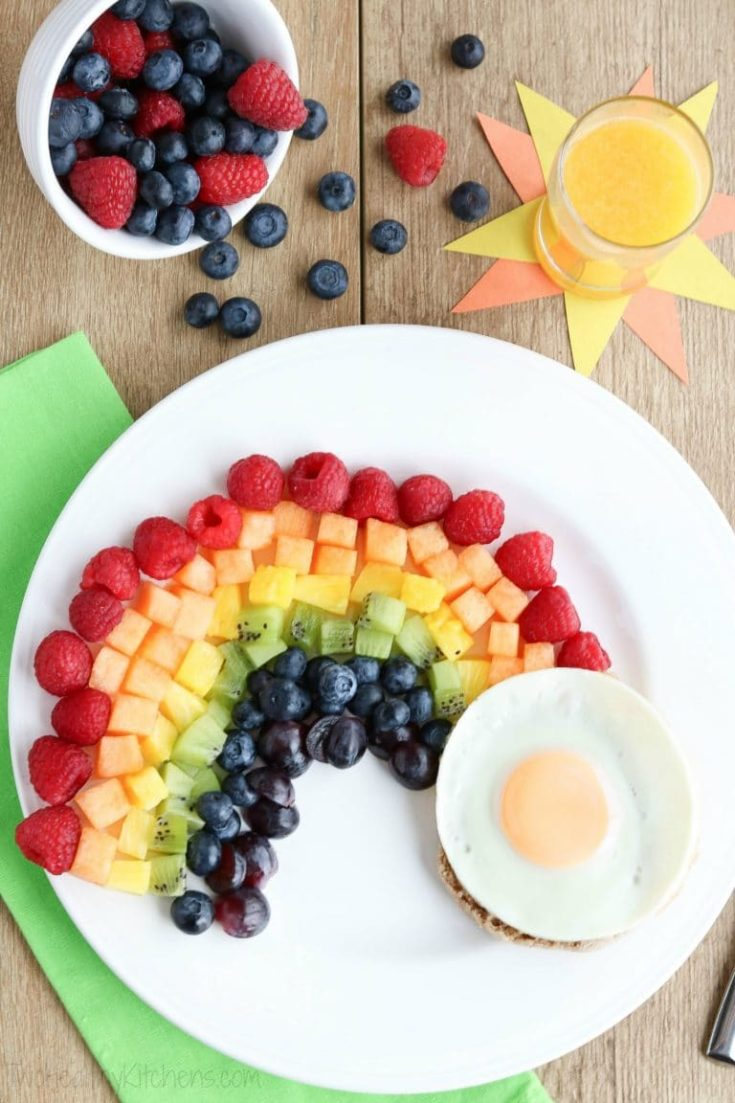 Fruit Rainbow with a Pot of Gold
