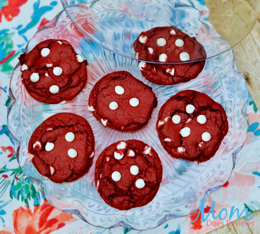 Red Velvet White Chocolate Chip Cake Mix Cookies