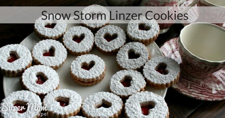 Snow Storm Linzer Cookies