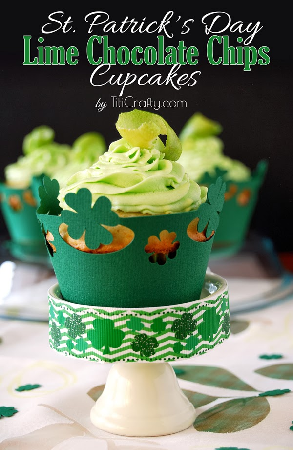 St. Patrick's Day Lime White Chocolate Cupcakes