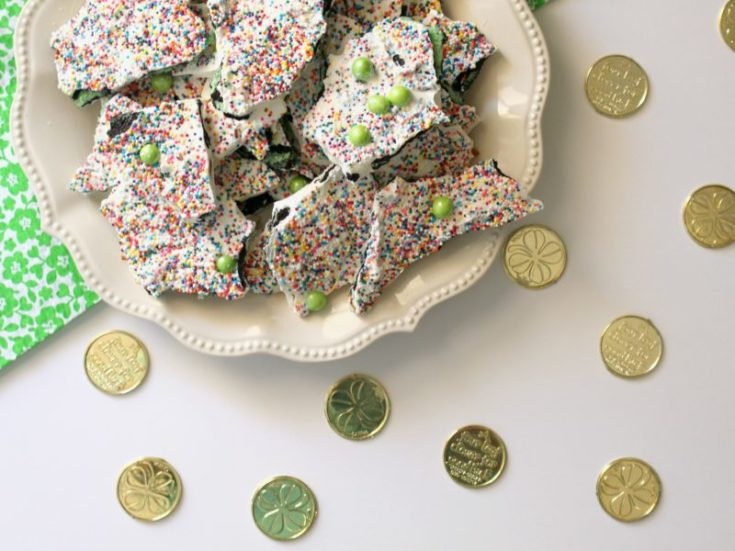 Quick and Easy Rainbow Bark Recipe for St. Patrick's Day