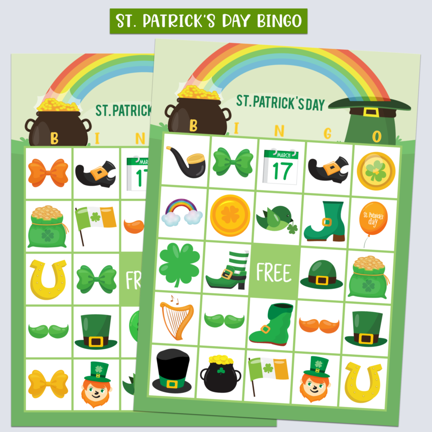 St. Patrick's Day Bingo- Free Printable