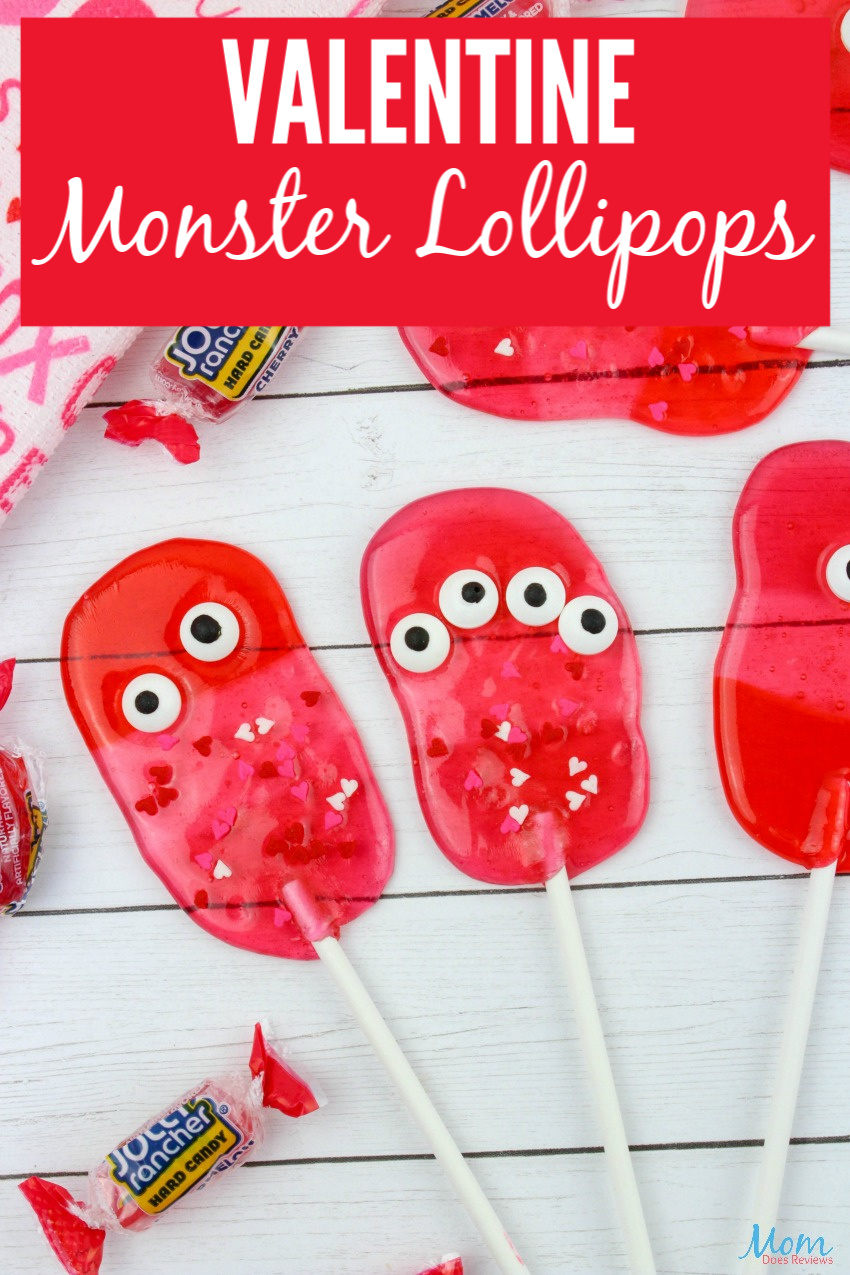 Valentine Monster Lollipops #Recipe & Tutorial #Sweets #valentinesday