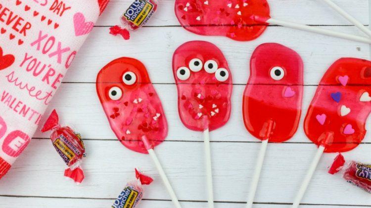 Valentine Monster Lollipops Recipe & Tutorial