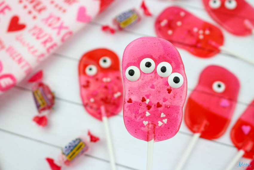 Valentine Monster Lollipops Recipe & Tutorial