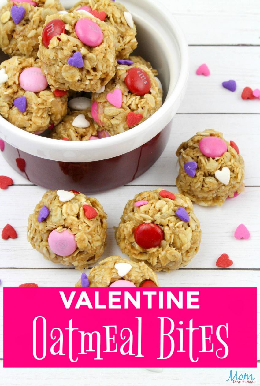 Easy Valentine Oatmeal Bites #Recipe #oatmeal #funfood
