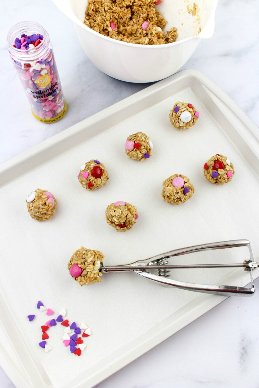 Valentine Oatmeal Bites process