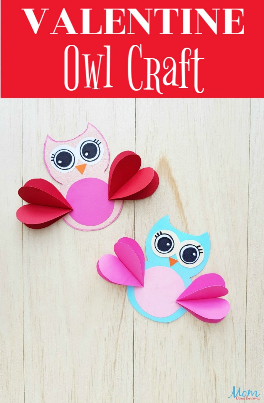 Adorable Valentine's Day Owl #Craft for Kids #papercraft #funstuff