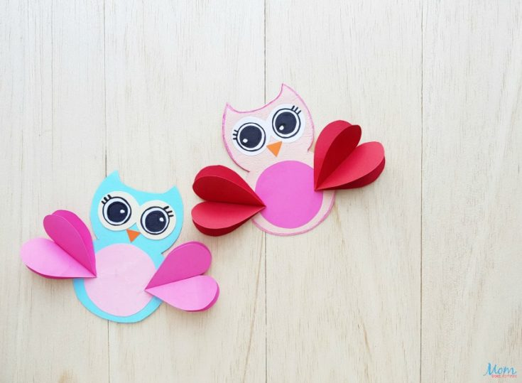 Valentine's Day Owl Craft for Kids