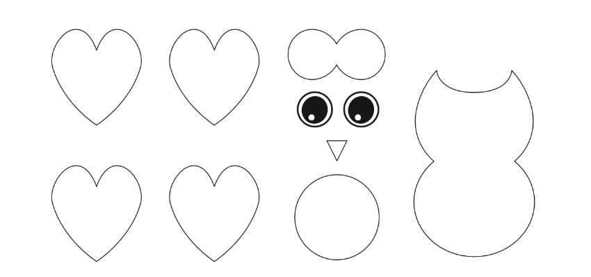 Valentine's Day Owl Craft template