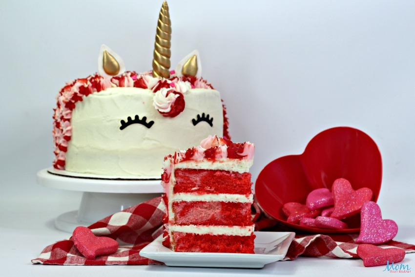 Valentine's Day Unicorn Layered Cake Recipe & Tutorial
