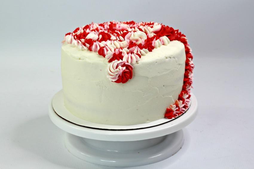 Valentine's Day Unicorn Layered Cake process