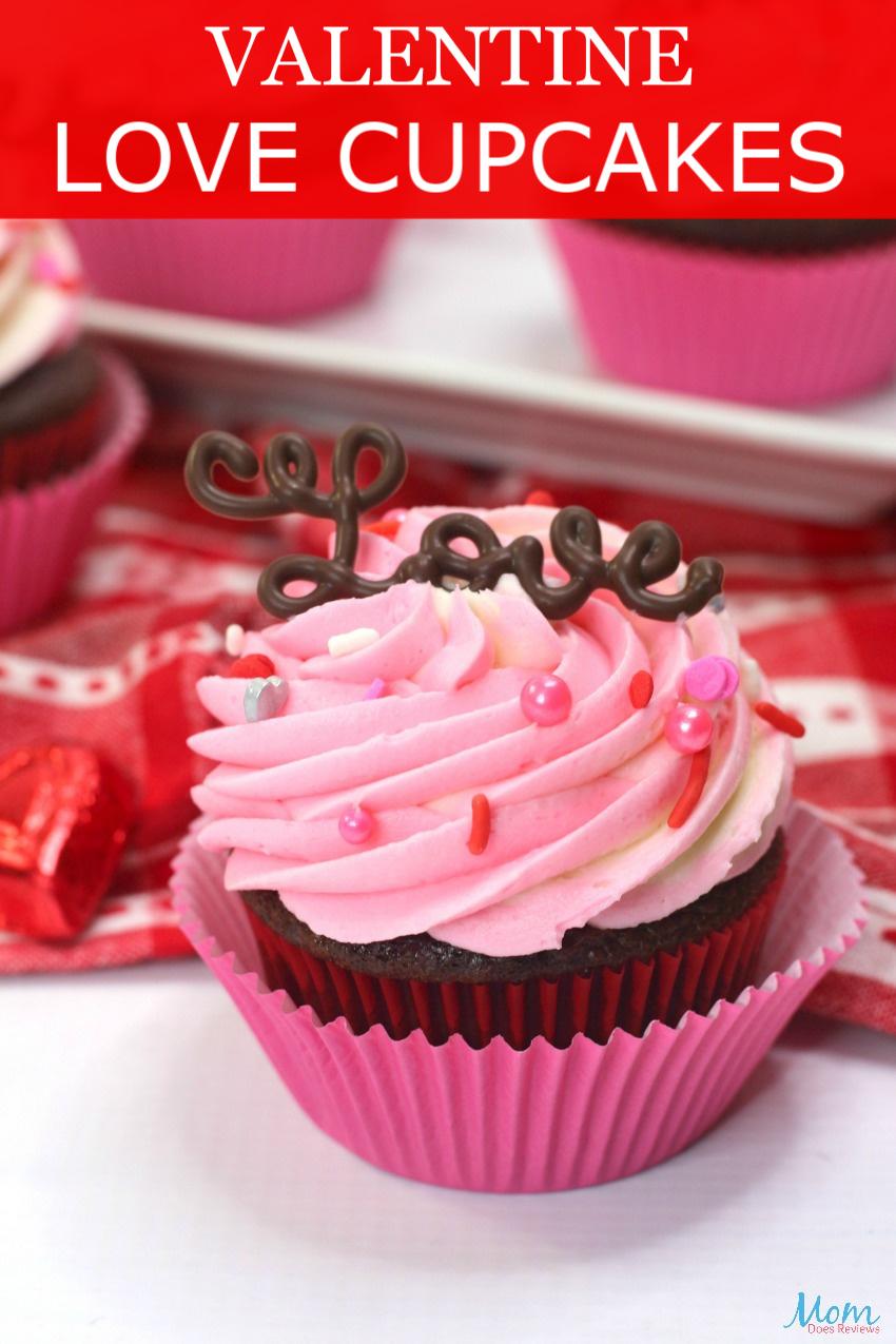 Valentine Love Cupcakes #Recipe & Tutorial #cupcakes #valentinesday