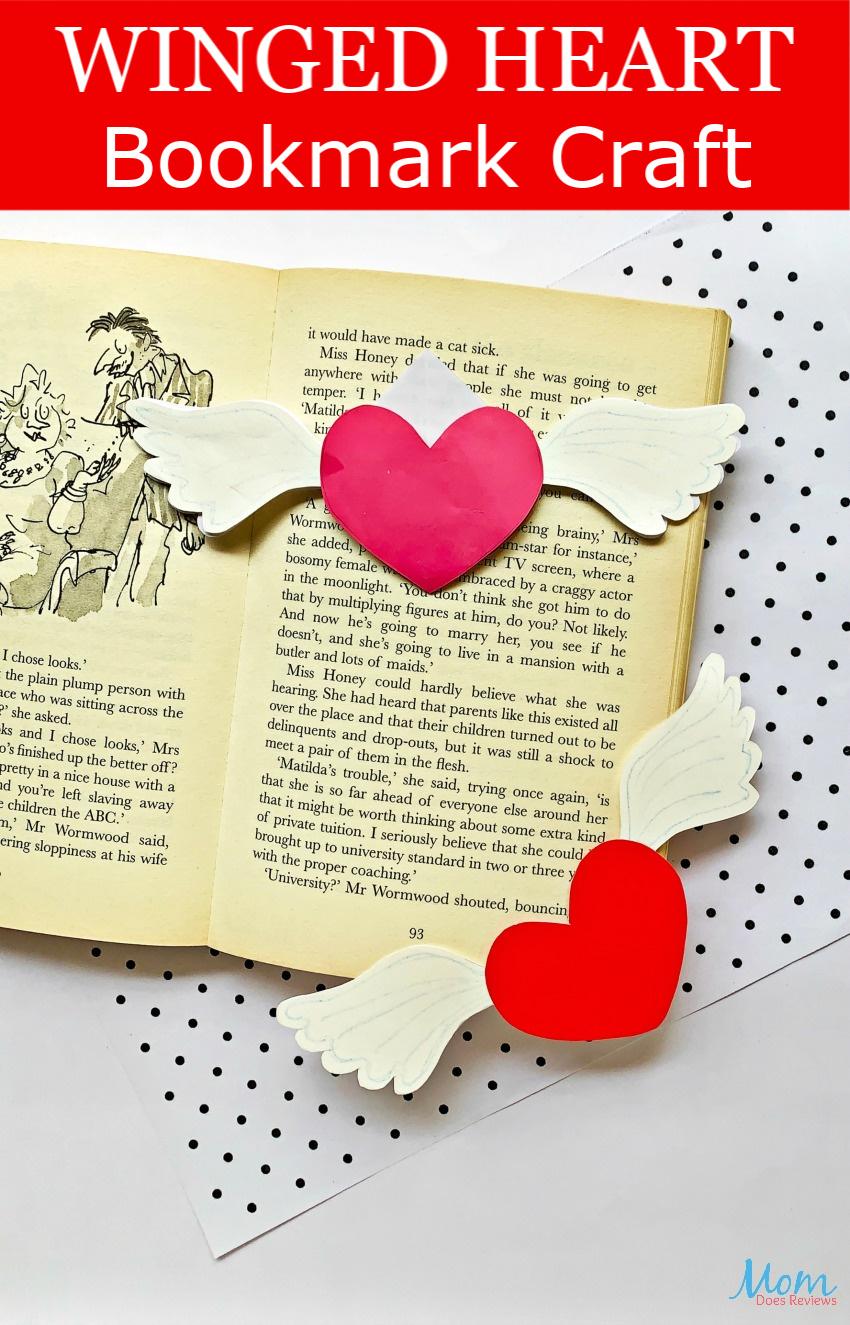 Winged Heart Bookmark #Craft #papercraft #valentinesday
