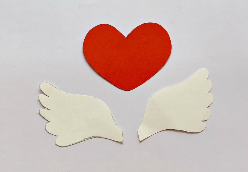 Winged Heart Bookmark Craft process
