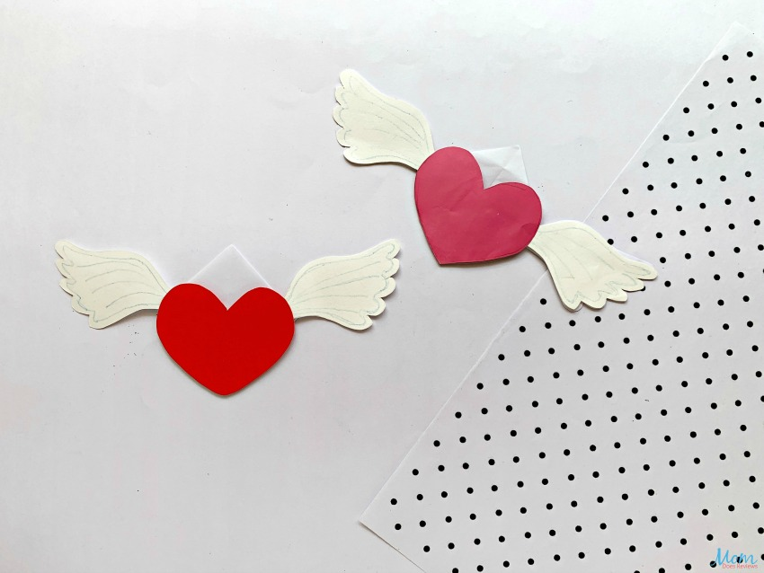 Winged Heart Bookmark Craft