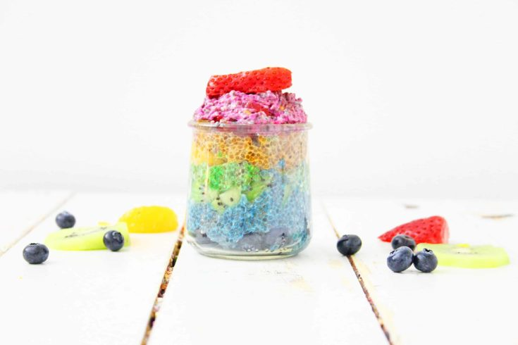 Rainbow Chia Pudding {with natural colors}