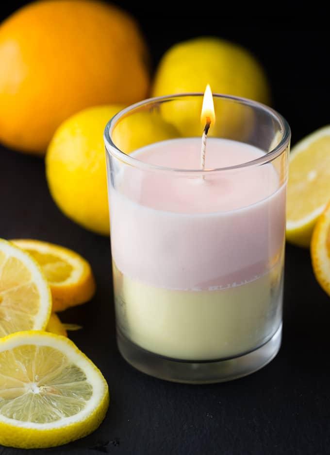Layered Jar Candle