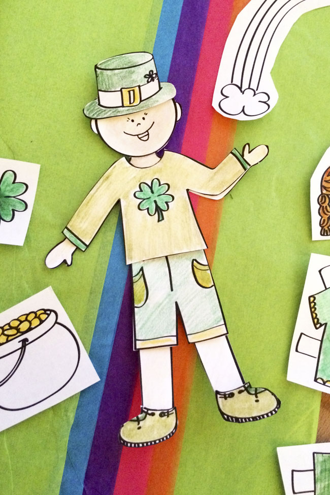 St. Patrick's Day Paper Doll Printable
