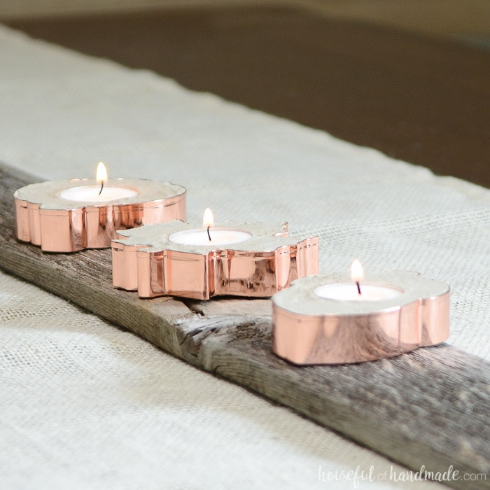 Easy Copper Candle Holders