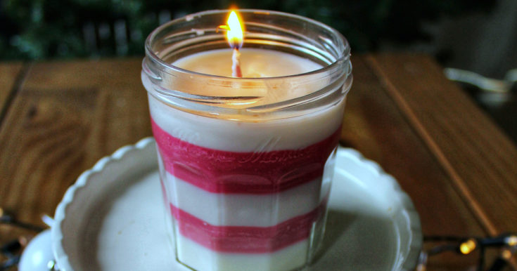 Easy Homemade Peppermint Candle