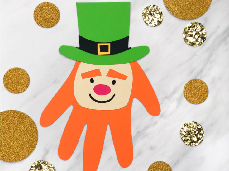 Leprechaun Handprint Craft