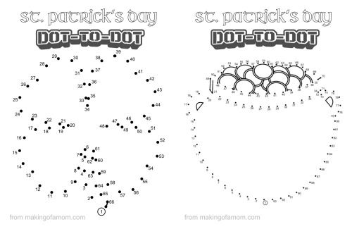 St. Patrick's Day Dot to dot