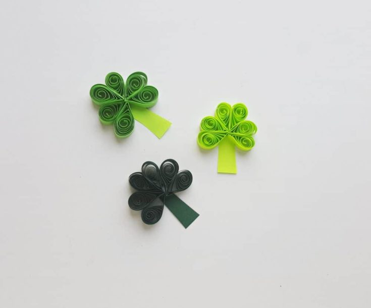 Paper Quilled Shamrock Craft
