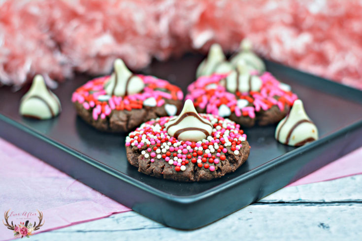 Valentine's Day Cookies with Hershey's Kisses