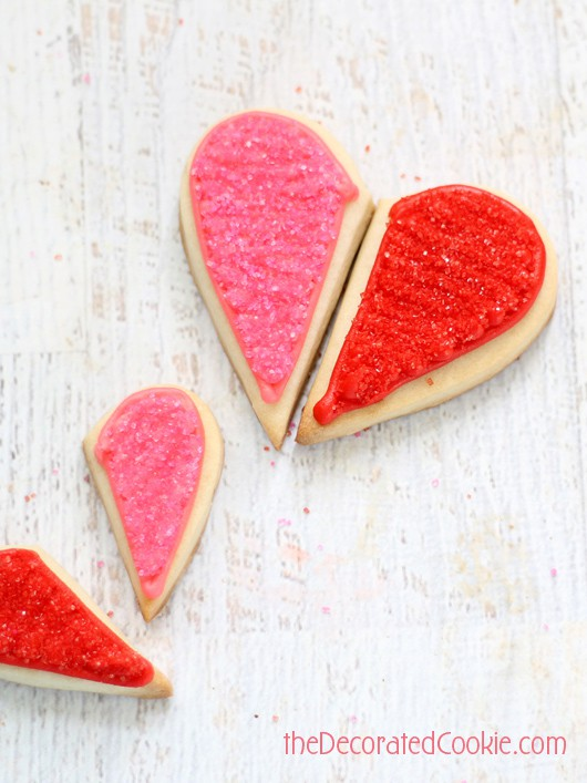 """""""You Complete Me"""" Heart Cookies"""