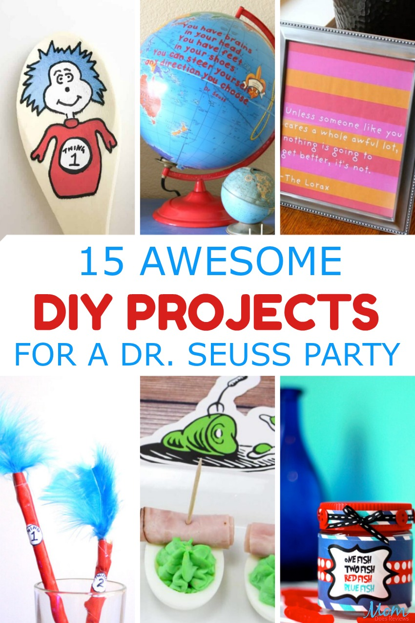 15 Awesome DIY Projects for a Dr. Seuss Party #drseuss #party #diy #crafts