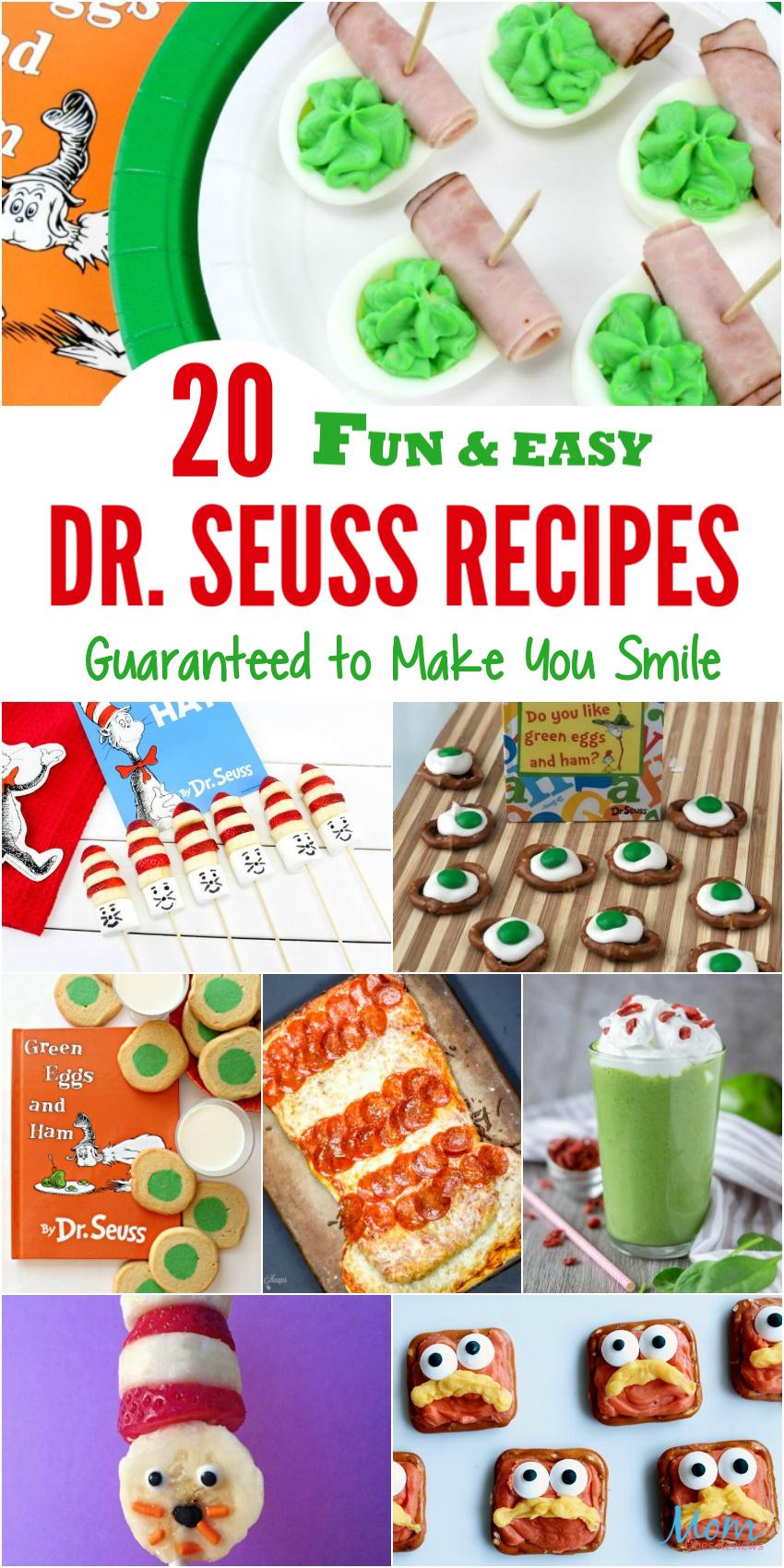 20 Fun & Easy Dr. Seuss Recipes Guaranteed to Make You Smile #drseuss #funfood #recipes