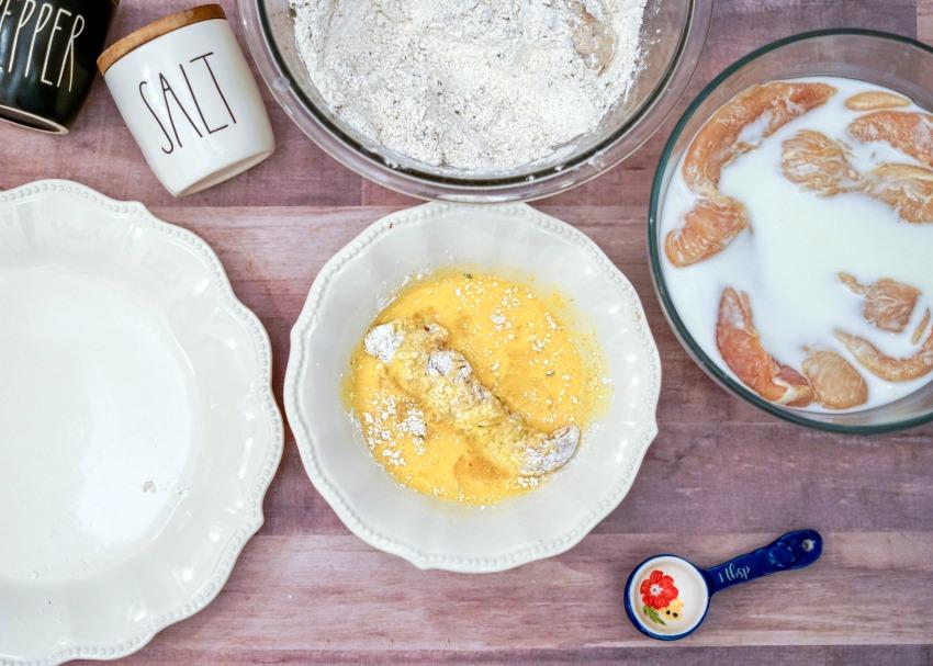 Buttermilk Fried Chicken Tenders process