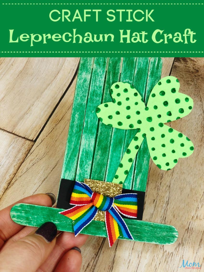 St. Patrick's Day Craft Stick Leprechaun Hat #Craft #stpatricksday #leprechaun